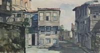 old istanbul street by fikret kolverdi