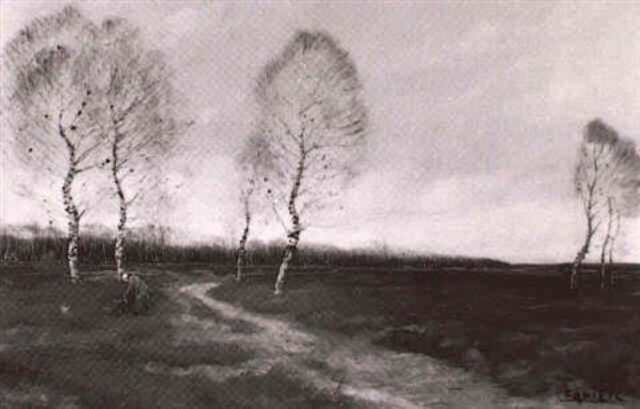 landschaft mit birken by eugène favier