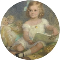 a little girl and her dolls by paul beckert