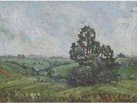 landscape by clément (joseph charles louis) sénèque