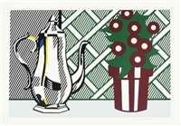 tea set by roy lichtenstein