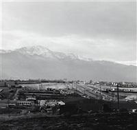pikes peak, colorado springs and the highway from the prairie by robert adams