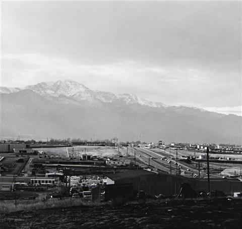 pikes peak colorado springs and the highway from the prairie by robert adams
