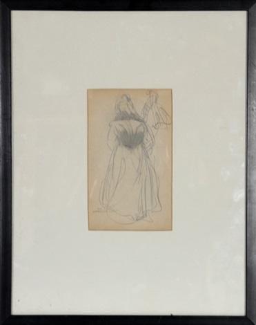 woman (study) by george benjamin luks