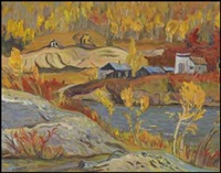 bonanza creek - yukon (scene of the gold strike, 1898) by ralph wallace burton