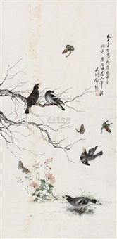flowers and birds by deng fengzhou