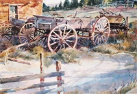 untitled - the old wagon race by tom hill