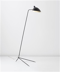 simple floor lamp with lampadaire shade, designed by serge mouille