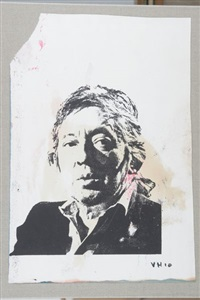 portrait de gainsbourg by victor hasch