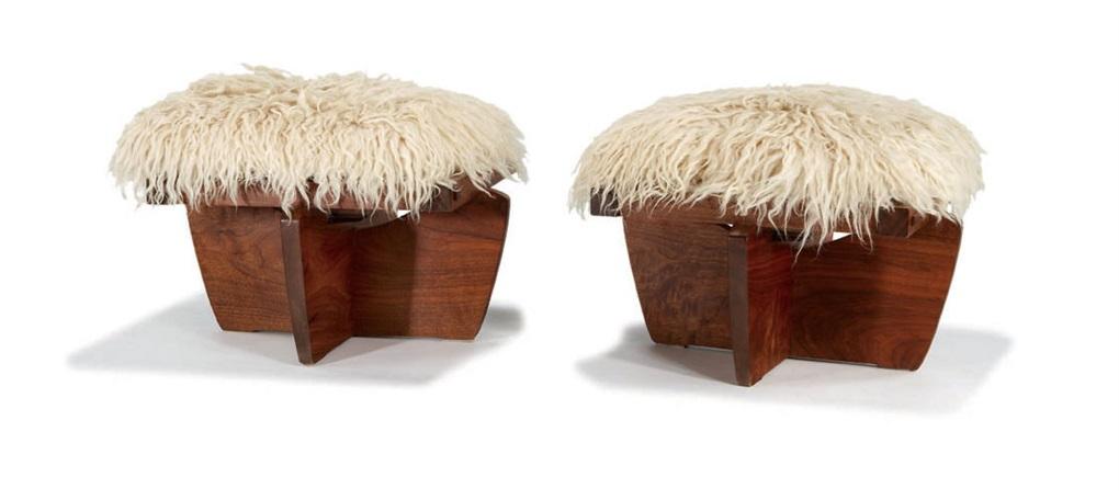 greenrock stools (4 works) by mira nakashima-yarnall