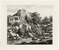 acht italiänische landschaften. der studienblätter, von c. reinhart in rom gezeichnet und radirt, iii. heft (booklet w/8 works) by johann christian reinhart