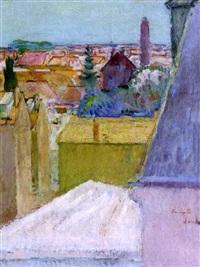 paysage au minaret, l'amirauté by henri saada