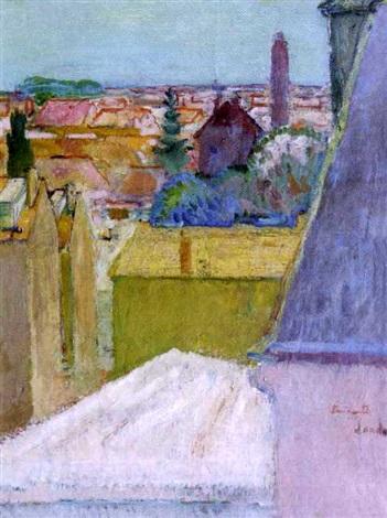 paysage au minaret lamirauté by henri saada