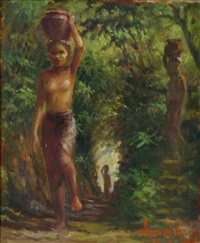 the water carriers, bali by abdul aziz