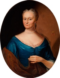 portrait of johanna geertruijd bronkhorst at the age of 58 by gerard jan palthe