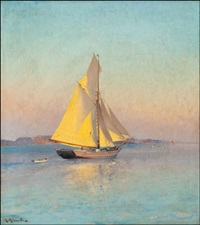 sailing at dusk by ludvig otto richarde
