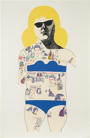 tattooed lady by peter blake