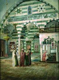 intérieur de mosquée à damas by j.a. holzer