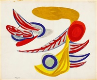ohne titel (vogel) by karel appel