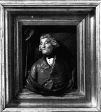 a portrait bust of general lord heathfield by samuel percy