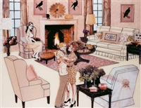 the instant decorator (beige living room) by laurie simmons