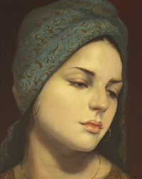 girl with gold earring by ken hamilton