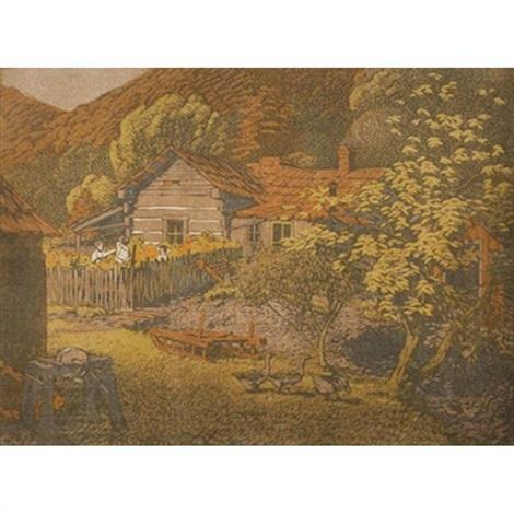wash barnes cabin by gustave baumann