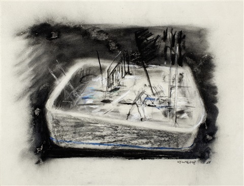 swimming pool by william kentridge