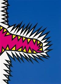 fire-flash-fire-fade (portfolio of 6) by nicholas krushenick
