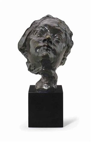 masque de femme au nez retroussé petit modèle variante sur piédouche by auguste rodin