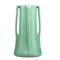 rare and tall four-buttressed vase by teco