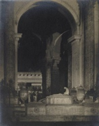 stackhope figure at rotunda, palace of fine arts, panama pacific international exposition by francis joseph bruguiere