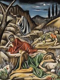 preghiera nell'uliveto by gregorio sciltian