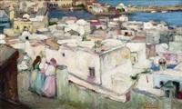femmes d'alger sur la terrasse (casbah) by alfred dabat