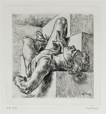nude young man on steps by paul cadmus