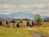 autumn view, possibly a vermont view by robert shaw wesson