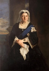 portrait of queen victoria (+ another, engraving; 2 works) by henrietta may ada ward