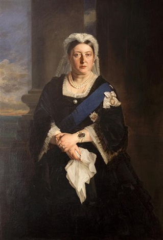 portrait of queen victoria another engraving 2 works by henrietta may ada ward