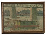 cincinnati railroad bridge by louis charles vogt