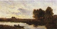 barcaiolo sul fiume by vittorio avondo