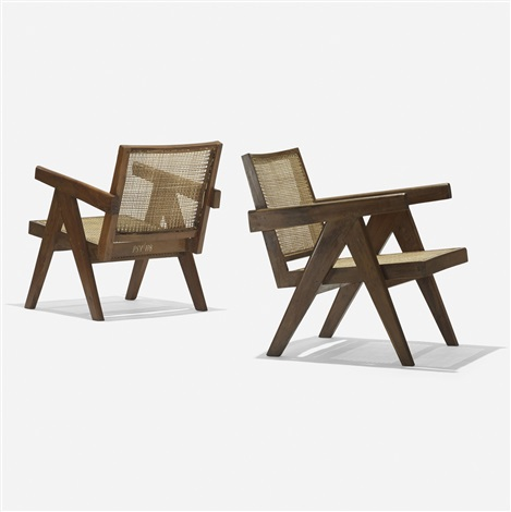 lounge chairs from chandigarh pair by pierre jeanneret