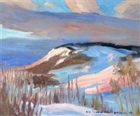 twilight by the butte by orestes (rick) nicholas de grandmaison