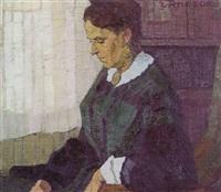 the old lady, portrait of helene pareau by elisabeth luise andrae