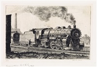 loco l.v.r.r. (locomotive lehigh valley) by reginald marsh