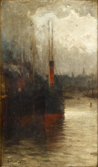 steamboats by a quay by james campbell noble