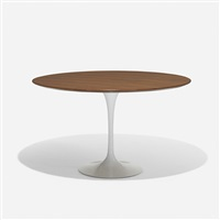 dining table, model 173w by eero saarinen