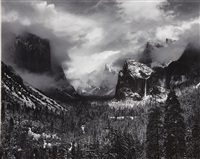 clearing winter storm yosemite national park california by ansel adams
