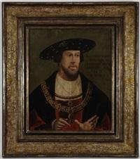 portrait du roi ludwig ii, roi de hongrie et de bohême by hans krell