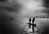 fishing in the piulaga laguna during the kuarup ceremony of the waura group, upper xingu basin, mato grosso, brazil by sebastião salgado