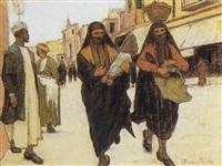 scena orientale by ottorino bicchi